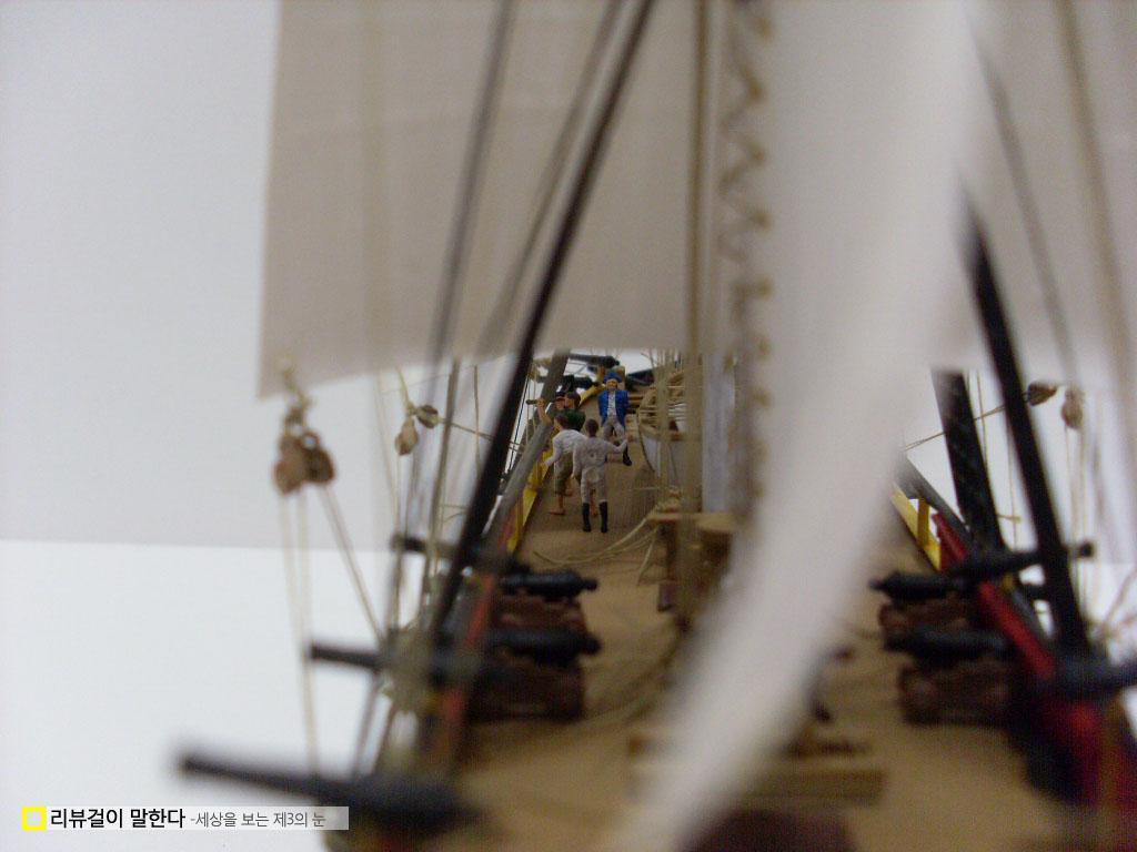 프라모델 범선 바운티호(HMS Bounty, Revell) 완성작