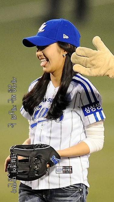 박민영 시구 삼성 라이온즈 2010년 10월 18일