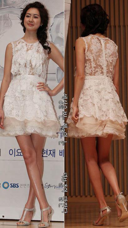 이요원 시스루 드레스