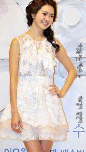 이요원 초미니 드레스