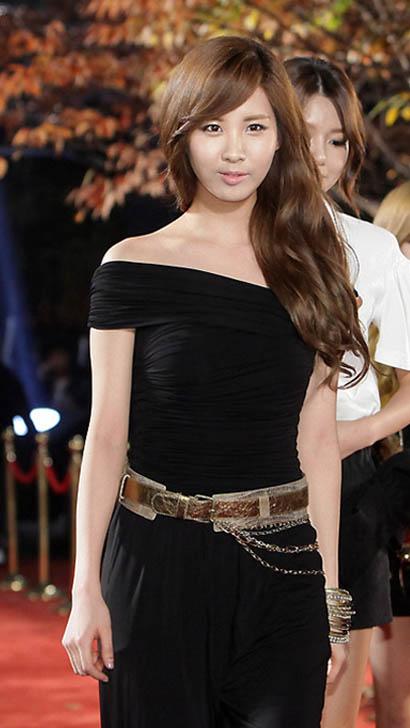 서현 검정 드레스