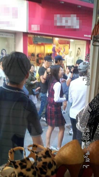 """수지 광주, 긴 생머리+교복 """"미모 甲"""""""
